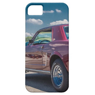 Car Sports Mustang Red Muscle Motor Gears Metal iPhone SE/5/5s Case
