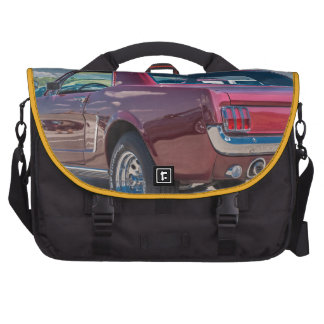 Car Sports Mustang Red Muscle Motor Gears Metal Bag For Laptop