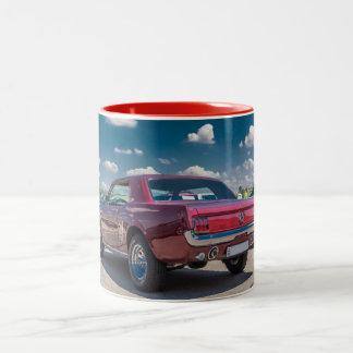 Car Sports Mustang Red Muscle Motor Gears Metal Coffee Mugs