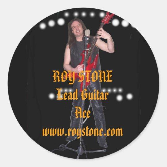 CAR STICKER, ROY STONELead GuitarAce... Classic Round Sticker
