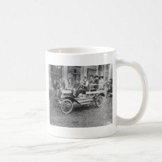 Car Strike Hitchhikers, early 1900s Coffee Mug