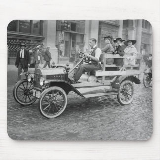 Car Strike Hitchhikers, early 1900s Mouse Pad