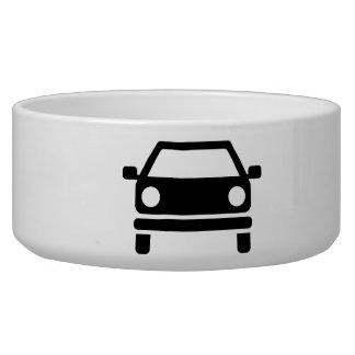 Car symbol dog bowls