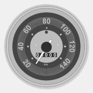 Car Tachometer Speedometer Classic Round Sticker