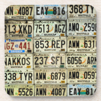 Car Tags Drink Coasters