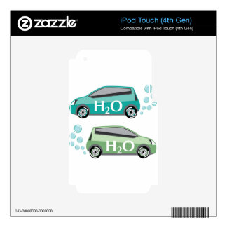 Car that runs on water vector decal for iPod touch 4G