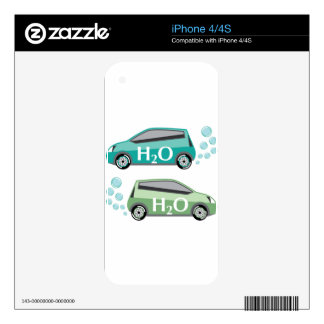 Car that runs on water vector iPhone 4 decals