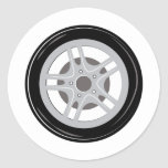 Car Tire Classic Round Sticker