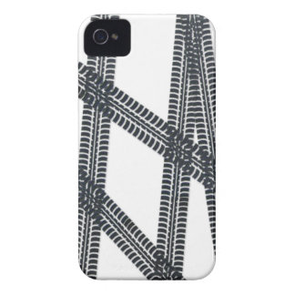 Car tire marks/tracks BlackBerry Case Cover
