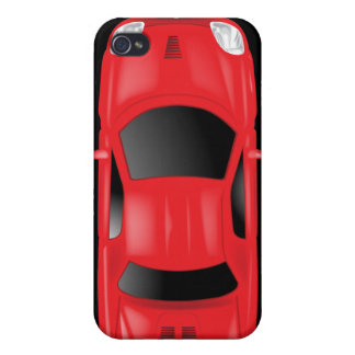 Car Top View - Illustration Cover For iPhone 4