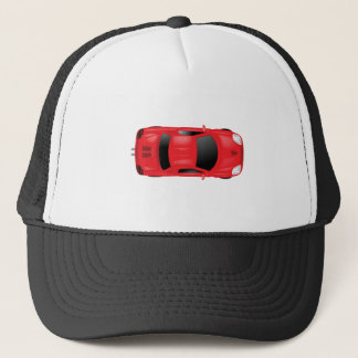 Car Top View - Illustration Trucker Hat
