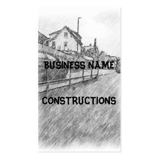 car traffic drawing business card