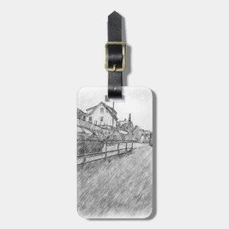 car traffic drawing tag for luggage