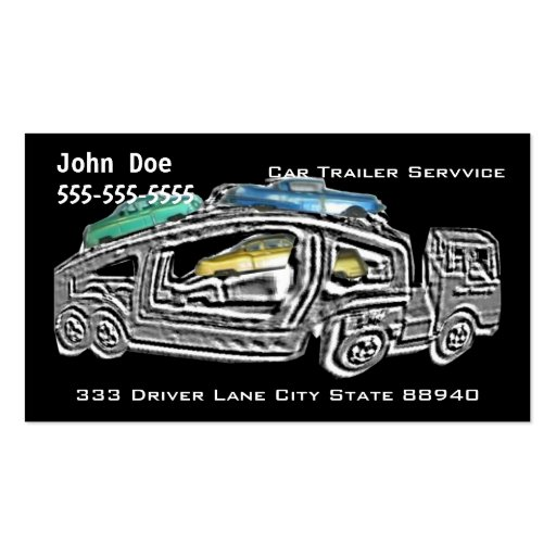 Car Trailer Services Business Card Template