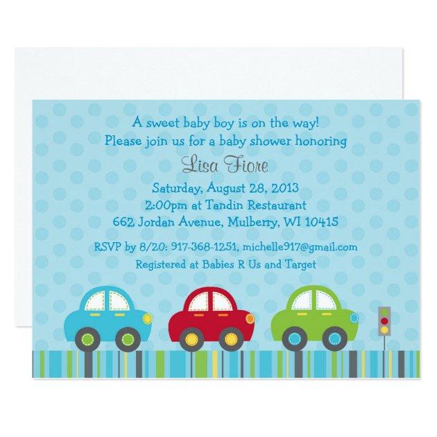 Rb Car Company >> Car Transportation Baby Shower Invitations | Zazzle