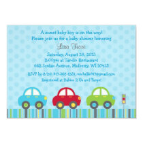 Car Transportation Baby Shower Invitations
