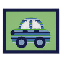 Car Transportation Boys Nursery Wall Art Print