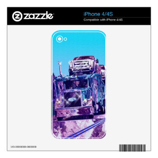 Car Transporter Truck Electronics Device Skins Decal For The iPhone 4S