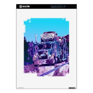 Car Transporter Truck Electronics Device Skins Skins For iPad 2
