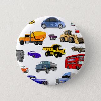 car truck firetruck bulldozer bus race cars more button