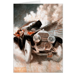Car vs Train by William Harnden Foster Card