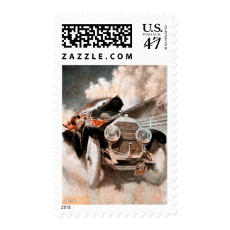 Car vs Train by William Harnden Foster Postage Stamp