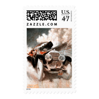 Car vs Train by William Harnden Foster Stamp