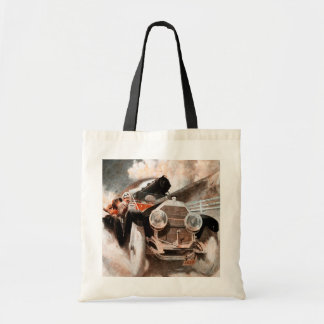 Car vs Train by William Harnden Foster Tote Bag