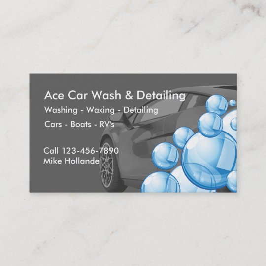 car wash and detailing business card - Car Wash Business Cards
