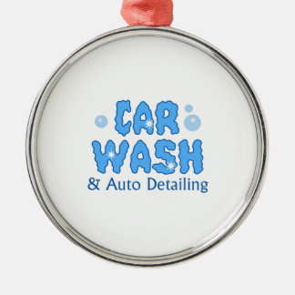 CAR WASH AUTO DETAILING METAL ORNAMENT