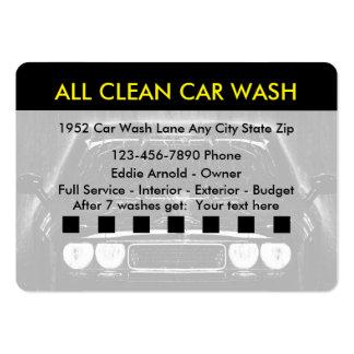 Car wash Automotive Large Business Card