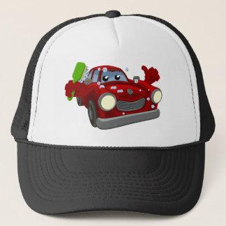 Car Wash Cartoon Mascot Trucker Hat