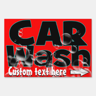 Car Wash. Carwash. Auto cleaning. Advertising Lawn Sign