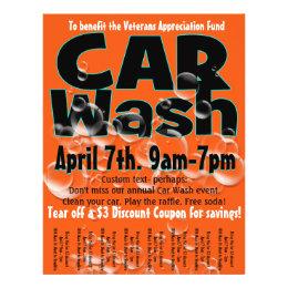 Car Wash. Carwash. Customizable promotional flyer