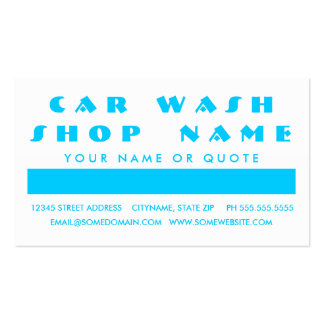 CAR WASH customer appreciation (mod squares) Double-Sided Standard Business Cards (Pack Of 100)