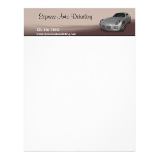 Car Wash Detailing Letterhead