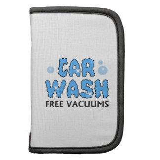 CAR WASH FREE VACUUMS FOLIO PLANNERS