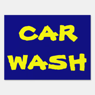 Car Wash fundraiser sign