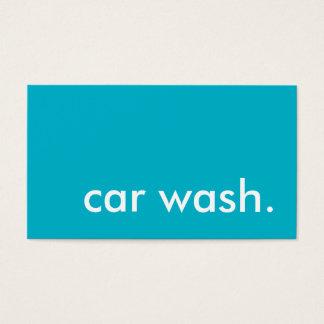 car wash. loyalty punch card