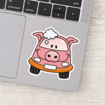 Car Wash Pig Sticker