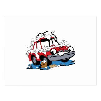 Car Wash Postcard