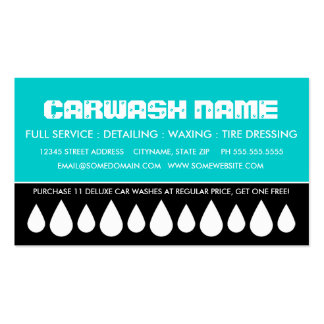 car wash punch card Double-Sided standard business cards (Pack of 100)