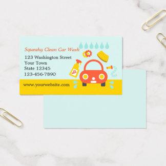 Car Wash Service Business Card