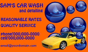 car wash service business cards - Car Wash Business Cards