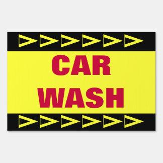 Car Wash Lawn Signs