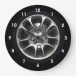 Car Wheel Hubcap Clock With Numbers at Zazzle
