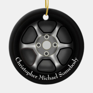 Car Wheel Ornament | Add Name