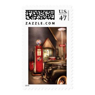 Car - White Flash Gasoline Postage