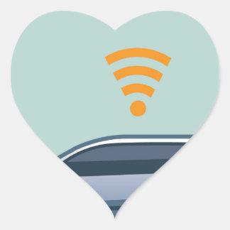 Car Wifi Vector Heart Sticker