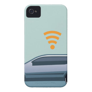 Car Wifi Vector iPhone 4 Cover